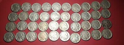 40 Premium Full Date Buffalo Nickels (60 Cents Each)