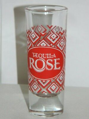 """Tequila Rose Shot Glass Shooter Red Geometric Design 4"""" Tall"""