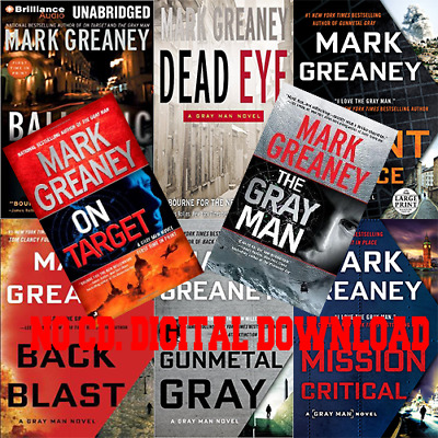The Gray Man by Mark Greaney 8 Books (Audiobook)