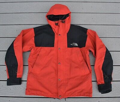7c89496fb39 THE NORTH FACE Mountain Guide Jacket Mens L Gore Tex Vintage 90s Red Black  Hood