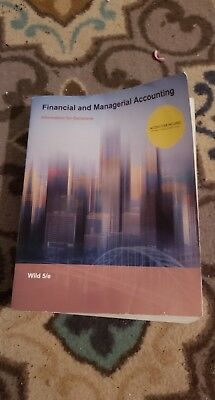 financial and managerial accounting information for decisions 5e wild 2015
