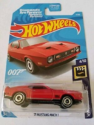 "Hot Wheels ""James Bond - Diamonds are Forever - '71 Mustang Mach 1"" - Long Card"