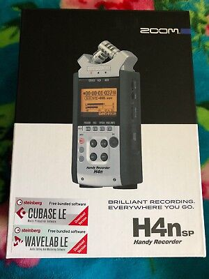 ZOOM H4n sp Handy Digital Recorder Protective Case,Batteries & User Manual.