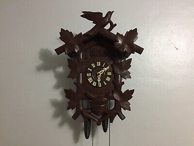 Rare German Black Forest Antique Quail In Nest Cuckoo Clock
