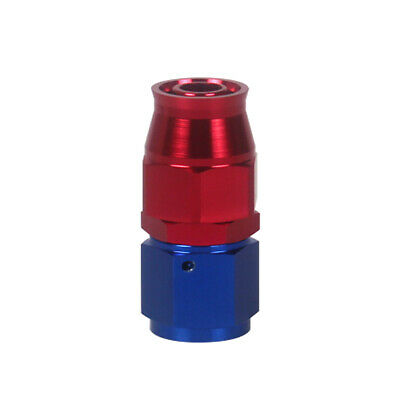 AN10 Straight Stealth Red Teflon Hose Fitting Car Accessories P6A8