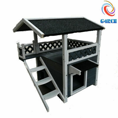 Wooden Outdoor/Indoor Pet Dog Puppy Cat Small Animal House Kennel Shelter Den