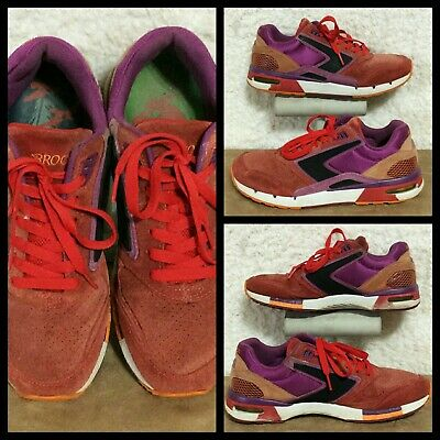 d96cb10f036 Brooks Heritage Fusion Women Color Block Suede Running Walking Sneakers  Shoes 10