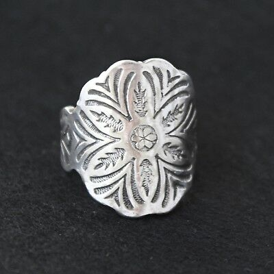 Antique Vintage - Silver Spoon Ring - Handcrafted from Antique cutlery - Size S