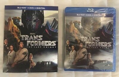 Transformers The Last Knight Blu-Ray/DVD/Digital Combo Pack New Sealed ShipsFree