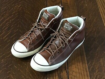 47d99fb05d10 Mens Brown Leather Converse Chuck Taylor All Star High Top Sneakers SIZE 11