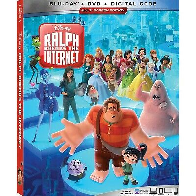 RALPH BREAKS THE INTERNET Blu-ray/DVD/Digital (CASE,COVER,CODE,ALL DISC)