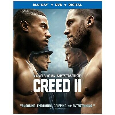 CREED 2 Blu-ray/DVD/Digital (CASE, SLIP COVER, CODE, & ALL DISC)
