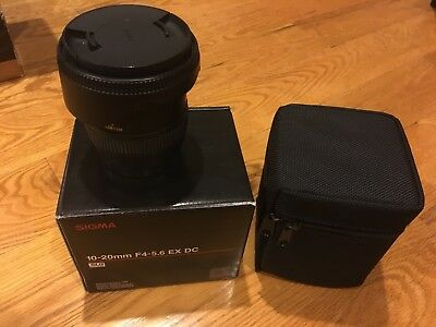 Sigma EX 10-20mm 1:4-5.6 HSM EX DC Lens - For Canon Wide Angle