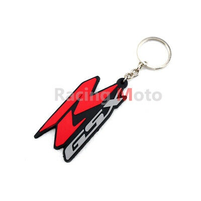 Motorcycle Rubber Keychain Key Ring fit For Suzuki GSXR400//600//750//1000//1300 New