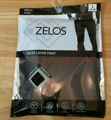 Men's Zelos Base Layer Pant, Black, New, Size Large(L, 36-38), Baselayer Legging