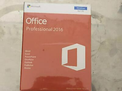 BRAND NEW Microsoft Office 2016 Professional 32/64 bit PRODUCT KEYINSIDE-NO DISC
