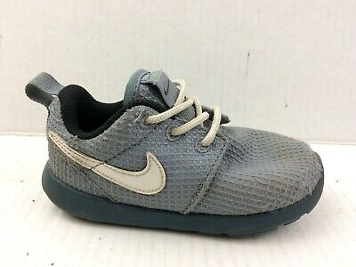size 40 1033b 06df2 NIKE ROSHE RUN Toddler Boys 7 Baby Little Kid Running Shoes Sneaker Magnet  Gray