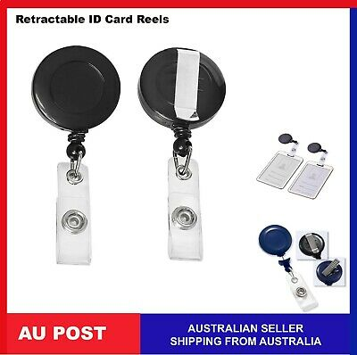 8,4,2x Retractable ID Card Reel Badge Holder Business Security Pull Key Tag Clip