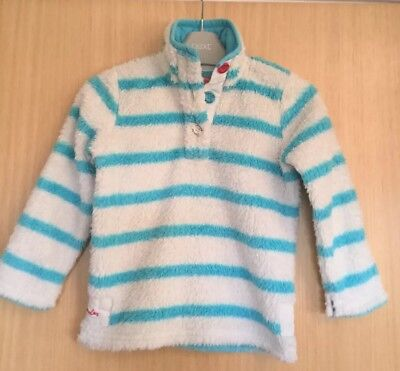 Joules Girls Sweatshirt Jumper Age 3 Shaggy Casual Winter Merridie Stripy Top