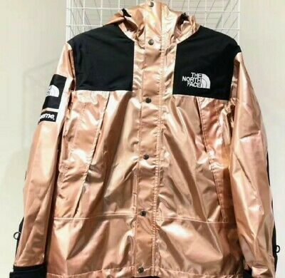 SUPREME THE NORTH Face Metallic Mountain Parka Mens Size L Rose Gold ... ade0744fc