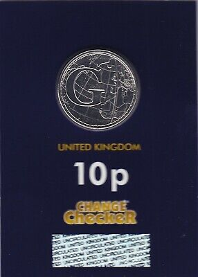 "NEW 2019 Alphabet 10p Coin Letter G ""Greenwich Mean Time"" - Bunc, Sealed"