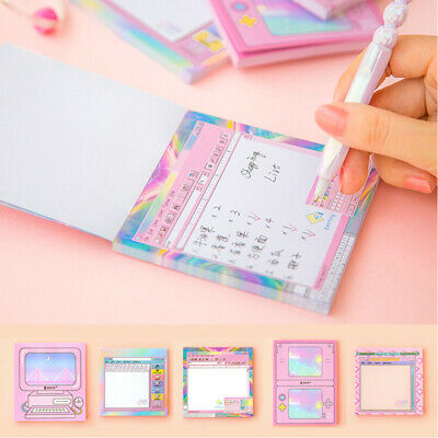 Cute Computer Game Shape Memo Pad Creative Diary Sticky Notes Office Supplies