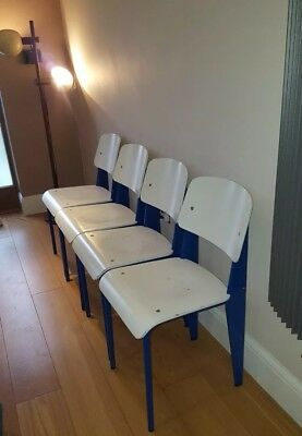 Set of fourJean Prouve Standard chairs mid century, Perriand, Retro.