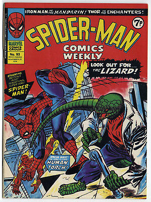 Spider-Man Comics Weekly #93 (Marvel UK 1974) top grade copy