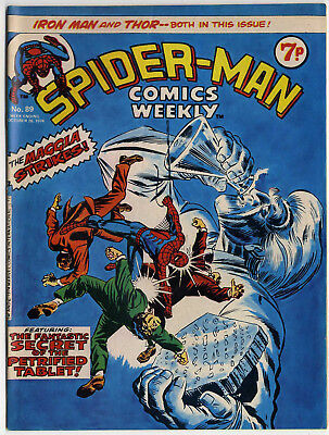 Spider-Man Comics Weekly #89 (Marvel UK 1974) top grade copy