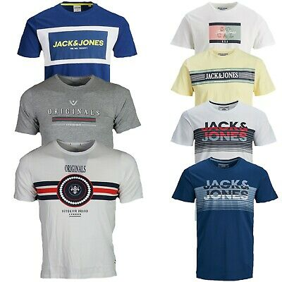 Jack & Jones Boys Kids Junior Crew Neck Short Sleeve Regular Fit T-shirts Tops