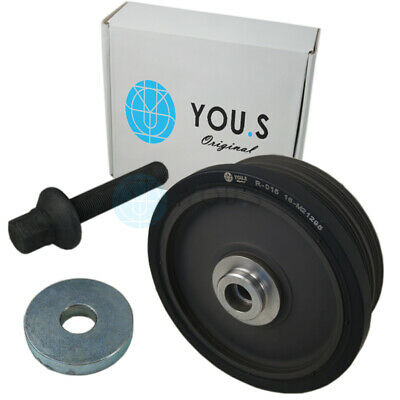 YOU.S Original Polea + Tornillo para BMW Serie 1 (E87) BMW X3 (E83)