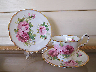 "Royal Albert ""American Beauty"" Trio England 1940s"