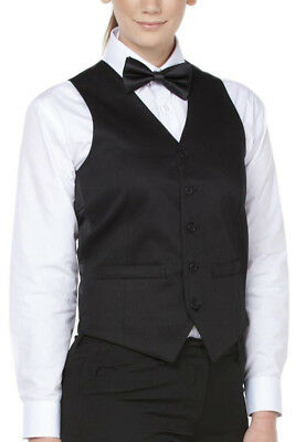 2 Pairs JB's Mid-Length Waiter's Waiting Vest with fully lined Satin backed 2xxs