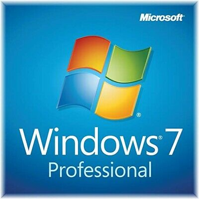 Windows 7 Professional Pro 64-bit Bootable USB Genuine Product Key & Software