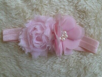 Baby clothes GIRL premature/tiny, 5-6lbs/2.3-2.7kg pink flowers special headband