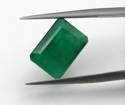 6.19 Ct Natural Emerald Loose Gemstone Octagon Cut Dark Green Color