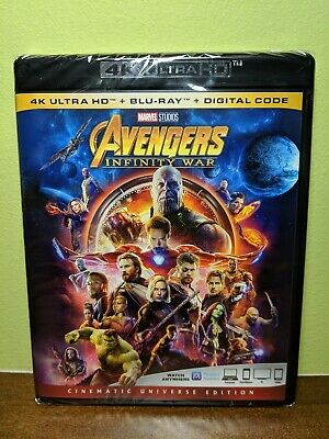 Avengers Infinity War (4K Ultra HD, Blu-ray, Digital) - Brand New, Sealed