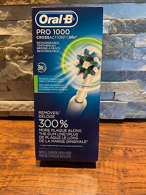 Oral-B Pro 1000 Cross Action 3D Action Rechargeable Toothbrush