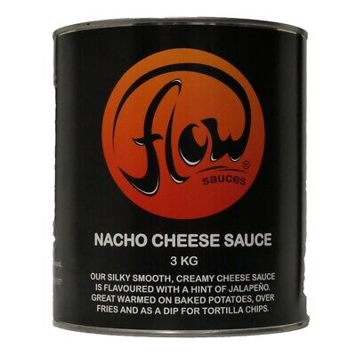 Flow Nacho Cheese 3KG Nachos Sauce Jacket Potatoes CHEAPEST FREE DELIVERY