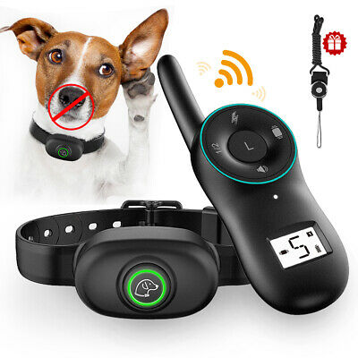 Anti Bark No Barking Training Collar Shock Control with Remote Rechargeable LED