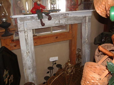 Antique Vintage 100 Year Old Wood Mantel Rustic Decor Shabby