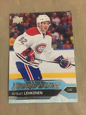 2016-17 UD Upper Deck Artturi Lehkonen Young Guns #232 Rookie RC Montreal