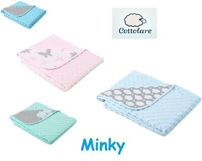Cottolare Baby Newborn Soft Minky Blanket 75 x 100 cm Colour