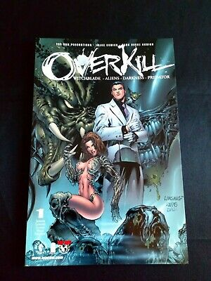 Overkill #1 Witchblade- Aliens- Darkness- Predator Dark Horse Comic (2000)