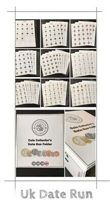 Coin Folder / Album- Date Run £2, £1, 50p, 20p, 10p, 5p, 2p, 1p, 1/2p Data sheet