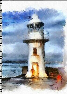 Address Book with Web page Weathered Lighthouse
