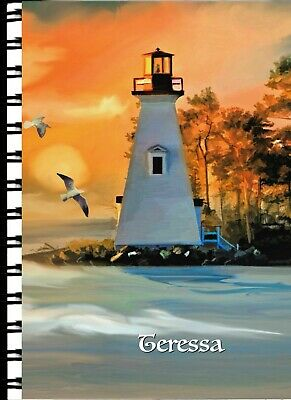 Address Book with Web page Sunset Lighthouse
