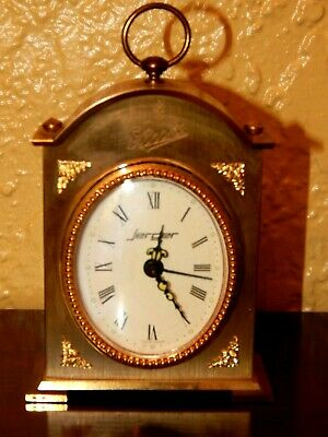 Vintage Jerger Miniature Carriage Clock, Made In Germany, Works Great. Stroh's