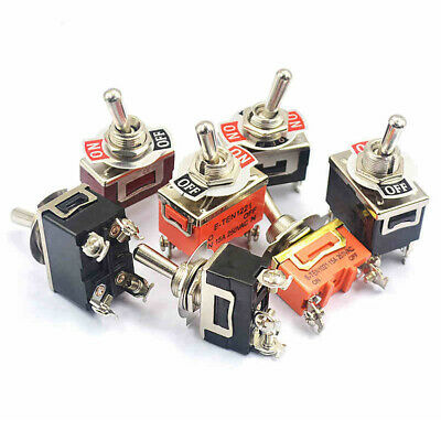E-TEN1021 ect. Series Rocker Toggle Switch Self-Reset Momentary Switches ON-OFF
