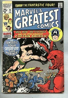 Marvel's Greatest Comics #25-1970 fn- Giant Size Fantastic Four Iron Man